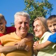 Boys and grandparents - Foto Stock