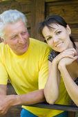 Yetişkin bir kız ve baba — Stok fotoğraf