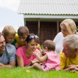 Family of a seven outdoors — Stock Photo #6940975