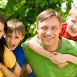 Nice family at nature — Stock Photo #6943115