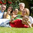 Stock Photo: Nice family at nature
