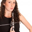 Woman with weapon — Stock Photo #6998861
