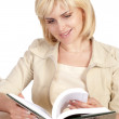 Cute woman reading — Stock Photo
