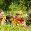 Stock Photo: Family at nature