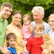 Cute family portrait — Stock Photo #7001348