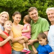 Nice family at nature — Stock Photo #7001356