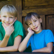 Two brothers portrait — Stock Photo