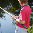 Royalty-Free Stock Photo: Young boy fishing