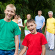 Nice family walking — Stock Photo