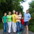 Nice family of a seven — Stock Photo #7007705