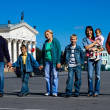Family at town — Stock Photo #7007895