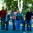 Cute family at a park — Stock Photo #7007920