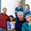 Family at a palace — Stock Photo