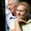 Old couple portrait - Stock Photo