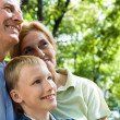 Boy and grandparents — Stock Photo