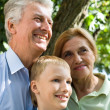 Boy and grandparents - Stock Photo
