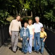 Family at bridge - Stock Photo