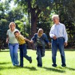 Family at the park - Stock Photo