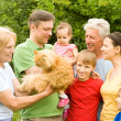 Cute family portrait — Stock Photo #7008508