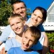 Family at house — Stock Photo