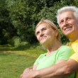 Cute old couple at nature — Stock Photo #7008909
