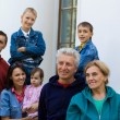 Family at a palace — Stock Photo #7009015
