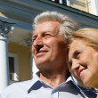 Old couple at house — Stock Photo