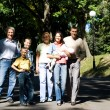 Stock Photo: Family at park