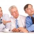 Three nice businessmen — Stock Photo