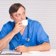 Doctor in office — Stock Photo #7009953