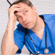 Nice doctor sitting — Stock Photo #7009981