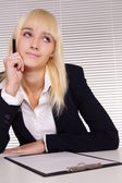 Pretty girl at office — Stock Photo