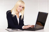 Nice girl at office — Stock Photo
