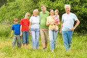 Nice family at nature — Stock Photo
