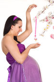 Pregnant woman in dress — Stock Photo