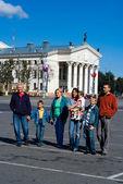 町で家族 — ストック写真