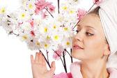 çiçek kız — Stok fotoğraf