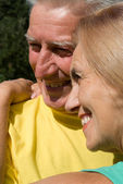 Cute old couple — Stock Photo