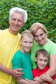 Dziadkowie z dziećmi — Zdjęcie stockowe