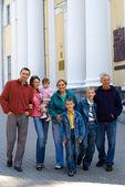 Family at palace — Stock Photo