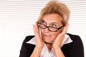 Smart woman at office — Stock Photo