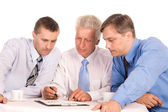 Three businessmen portrait — Stock Photo
