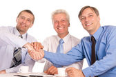 Three nice businessmen — Photo