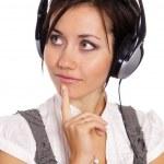 Girl and headphones — Stock Photo #7010208
