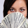 Girl and money — Stock Photo #7010445