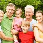 Cute family portrait — Stock Photo #7171242