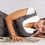 Girl with money — Stock Photo #7172975