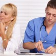 Doctor and nurse at office — Stock Photo #7173971