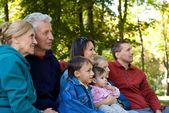 Family at park — Stockfoto
