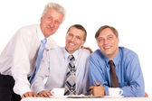 Three good businessmen — Stock Photo